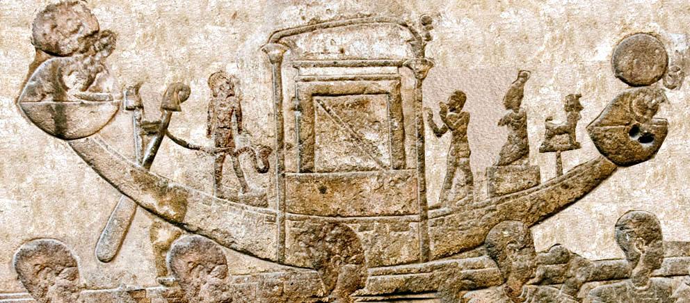 La barque d horus edfou