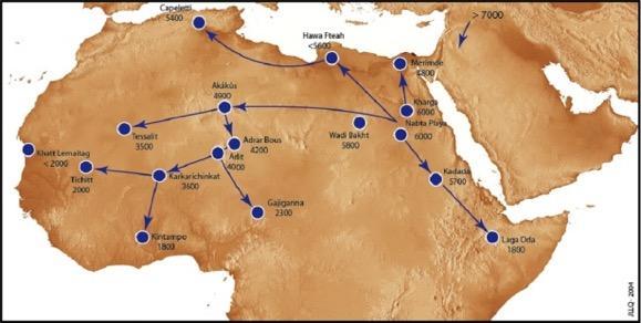 Les bovins domestiques se repandent au sahara central au cours du viie millenaire bp 1