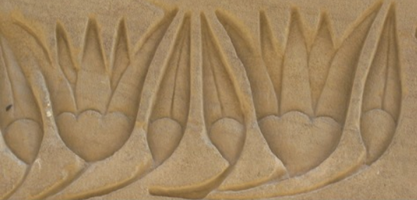 Lotus flowers from the edfu temple