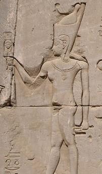 Neron faisant des offrandes a ihy temple hator a dedera mur est exterieur