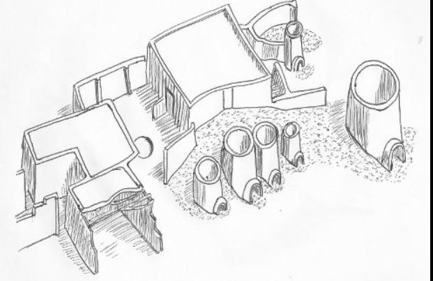 Reconstruction d un atelier de poterie d ayn asil de la premiere periode intermediaire