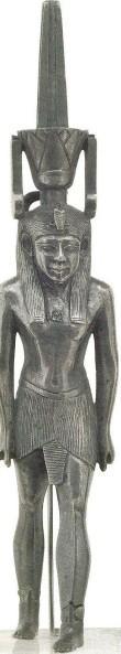 Statuette du dieu nefertoum en argent basse epoque leyd