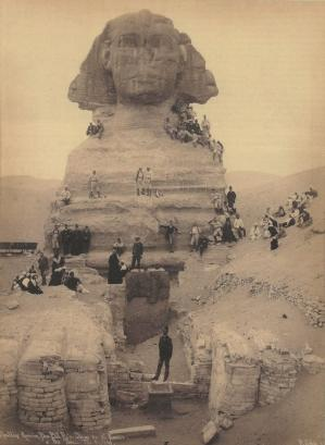 The sphinx giza egypt ca 1889s