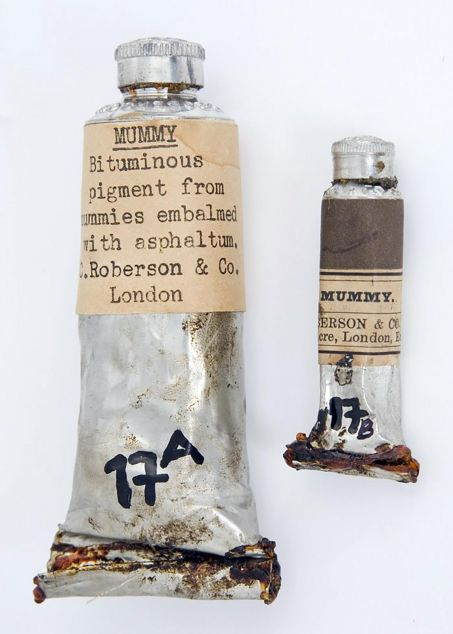 Tubes de brun de momie produits par c robertson and co london yale art museum