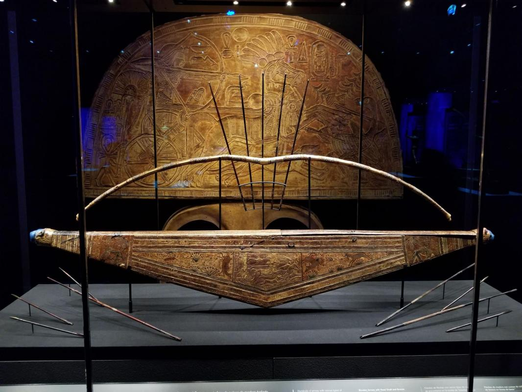 Tutankhamun s bow case 335 bows and arrows staples were for attaching it to his chariot