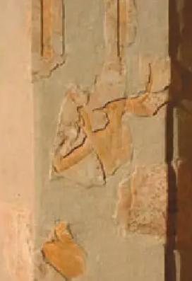 Une colonne du troisieme niveau du sanctuaire d hatchepsout a deir el bahari