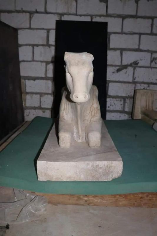 Veau apis ancien superviseur du tresor royal dans le gouvernorat de minya tomb of badi est 1
